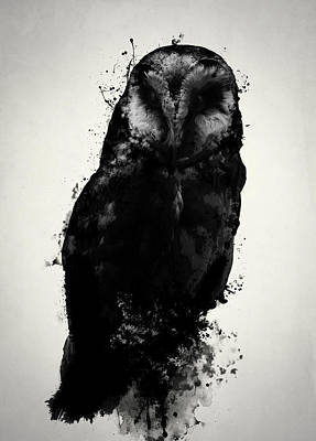 Art Print featuring the mixed media The Owl by Nicklas Gustafsson