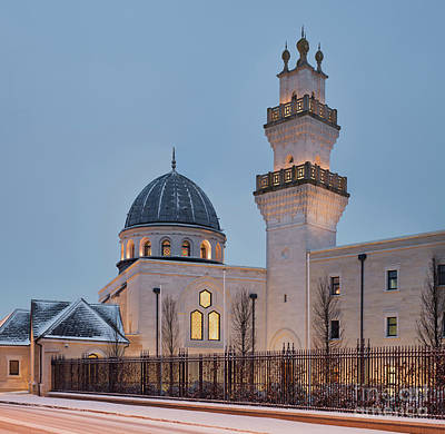 Photograph - The Oxford Centre For Islamic Studies In The Snow by Tim Gainey