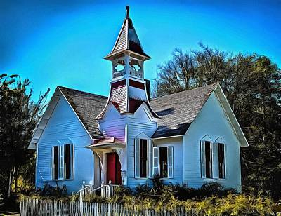 Photograph - The Oysterville Church by Thom Zehrfeld