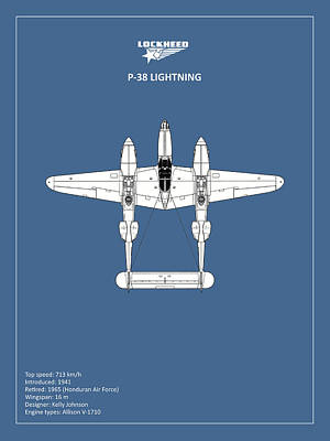 Lightning Photograph - The P-38 Lightning by Mark Rogan