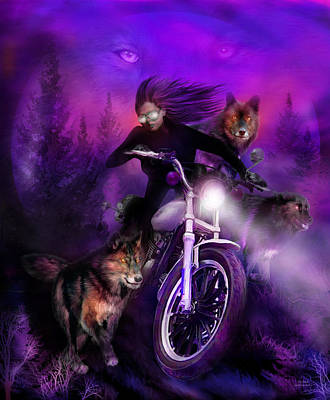 Mixed Media - The Pack by Carol Cavalaris