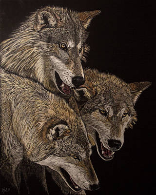 Painting - The Pack by Margaret Sarah Pardy