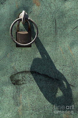 Photograph - The Padlock, Ring And Shadow by Wendy Wilton