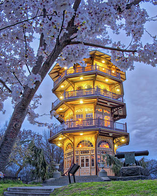 Photograph - The Pagoda In Spring At Blue Hour by Mark Dodd