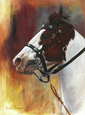 Bridle Painting - The Paint by Harvie Brown