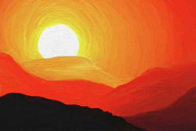 Graphics Painting - The Painted Desert by Di Designs