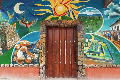 Photograph - The Painted Doors Of Las Flores - 1 by Hany J