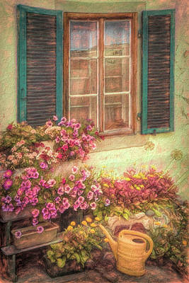 Photograph - The Painted Garden by Debra and Dave Vanderlaan