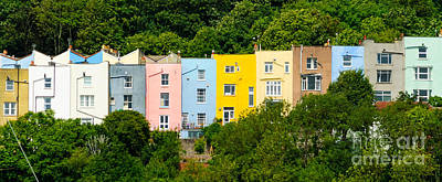 Photograph - The Painted Houses, Bristol by Colin Rayner