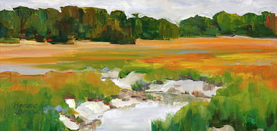 Painting - The Painted Marsh by Barbara Jones