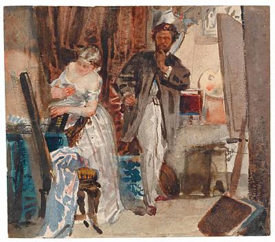 The Painter In His Studio Art Print by Domenico Morelli