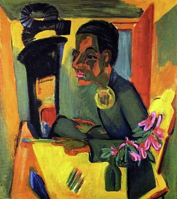Self Shot Painting - The Painter, Self Portrait by Ernst Ludwig Kirchner