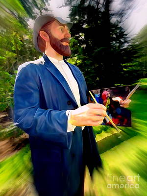 Digital Art - The Painter With Palette by Ed Weidman