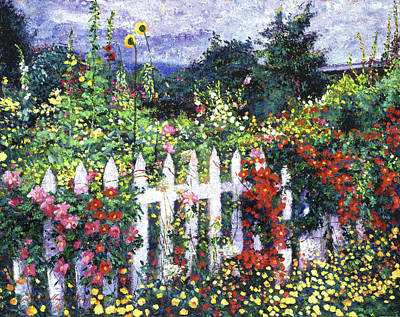 The Painter's Palette Garden Print by David Lloyd Glover