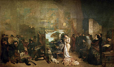 Moral Painting - The Painter's Studio. A Real Allegory Of A Seven Year Phase In My Artistic And Moral Life by Gustave Courbet