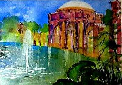 Painting - The Palace  In Miniature by Esther Woods