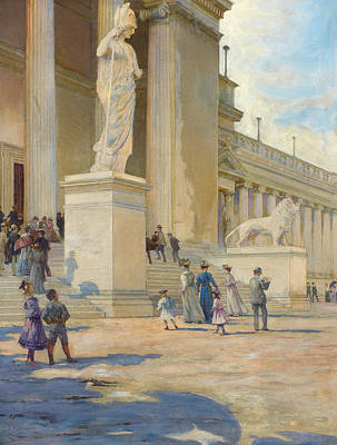 Crowds Painting - The Palace Of Fine Arts  by Edwin Howland Blashfield