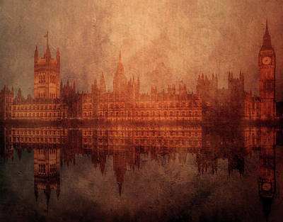 Westminster Abbey Digital Art - The Palace Of Westminster by KaFra Art