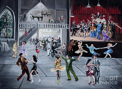 Party Scene Painting - The Palace by Toni  Thorne