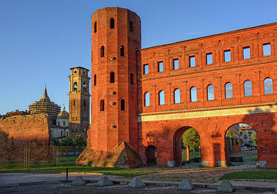 The Palatine Towers And The Cathedral Of Turin, Turin, Italy Art Print