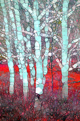 Forest Floor Digital Art - The Pale Trees Of Winter by Tara Turner