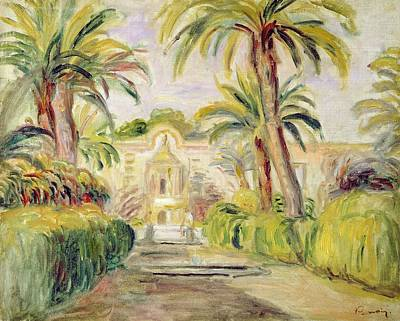 Window Bench Painting - The Palm Trees by Pierre Auguste Renoir