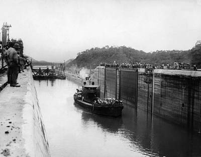 The Panama Canal, Circa 1913 Art Print