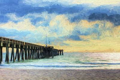 Digital Art - The Panama City Beach Pier by JC Findley