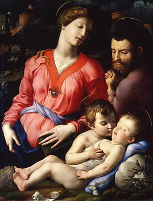 The Panciatichi Holy Family Art Print by Bronzino