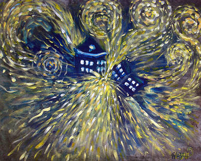 Doctor Who Painting - The Pandorica Opens by Alizey Khan