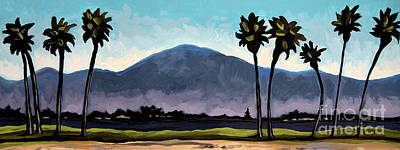 Painting - The Panoramic Palm Trees by Elizabeth Robinette Tyndall