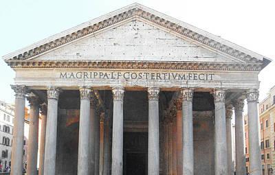 Digital Art - The Pantheon Rome Italy by Irina Sztukowski