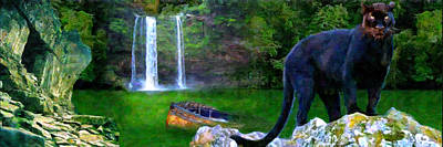 Mangrove Forest Painting - The Panther by Michael Cleere