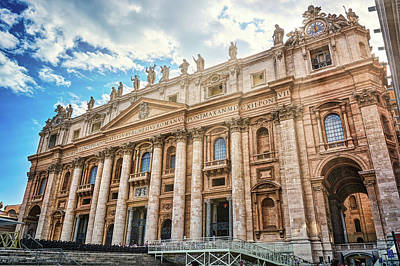 Photograph - The Papal Basilica Of Saint Peter From Below by Eduardo Jose Accorinti