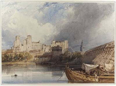 Papal Painting - The Papal Palace At Avignon France by William Callow