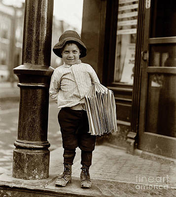 Paper Boy Photograph - The Paper Boy  by Jon Neidert