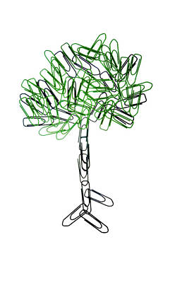 Photograph - The Paperclip Tree by Jean Gill