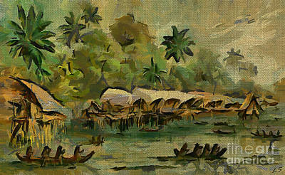 Painting - The Papuans Of New Guinea by Sergey Lukashin