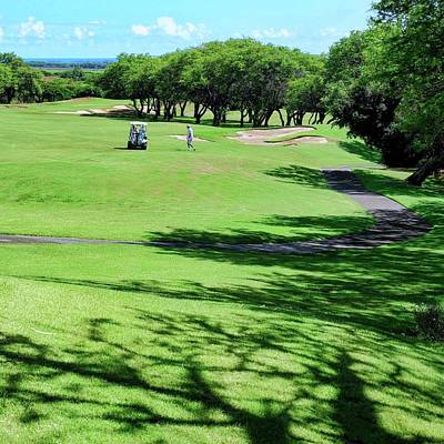Photograph - The Par 5 14th Fairway At Kahili by Kirsten Giving
