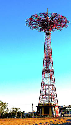 The Parachute Jump Art Print by Mitch Cat