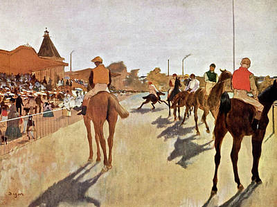 Taylor Swift Wall Art - Painting - The Parade, Digitally Enhanced Highest Resolution,race Horses In Front Of The Tribune, Edgar Degas by Edgar Degas
