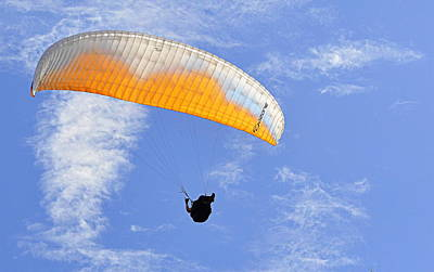 Photograph - The Paraglider by AJ Schibig