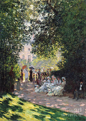 Parc Painting - The Parc Monceau, 1878  by Claude Monet