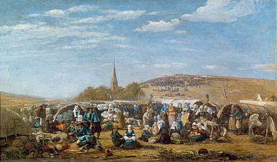 Crowds Painting - The Pardon Of Sainte Anne La Palud by Eugene Louis Boudin