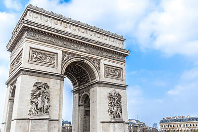 Photograph - The Paris Arch Of Triumph by Nila Newsom