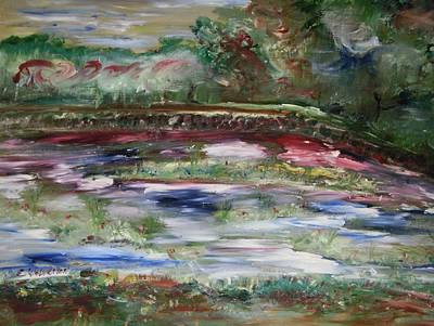 The Park Beneath The Rainbow Art Print by Edward Wolverton