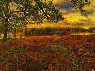 Digital Art - The Park In Autumn by Leigh Kemp