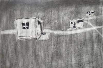 Primitive Drawing - The Park by Keith Straley