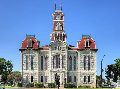 Photograph - The Parker County Courthouse by JC Findley