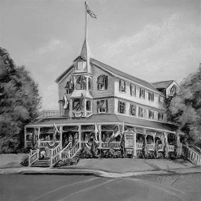 Pastel - The Parker House Black And White by Melinda Saminski
